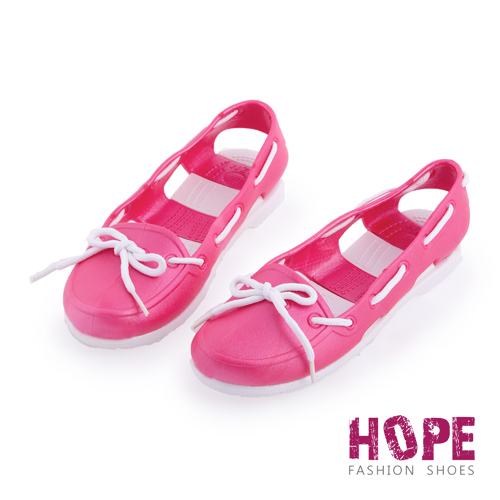 【HOPE】防水輕量後跟簍空雨鞋-紅【SMI1314】