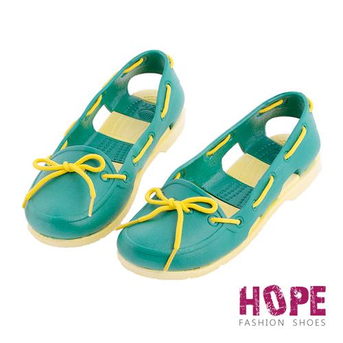 【HOPE】防水輕量後跟簍空雨鞋-綠【SMI1314】
