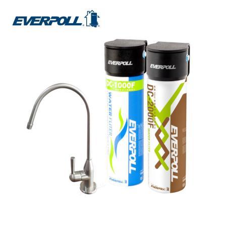 EVERPOLL 愛惠浦科技 不鏽鋼單冷龍頭+全效能淨水組(H-118+DCP-3000)