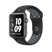 Apple Watch Series 2 智慧型手錶 (42mm) /A 42公釐 太空灰色鋁金屬錶殼搭黑色配冷灰色 Nike 運動型錶帶 (MNYY2 TA/A)