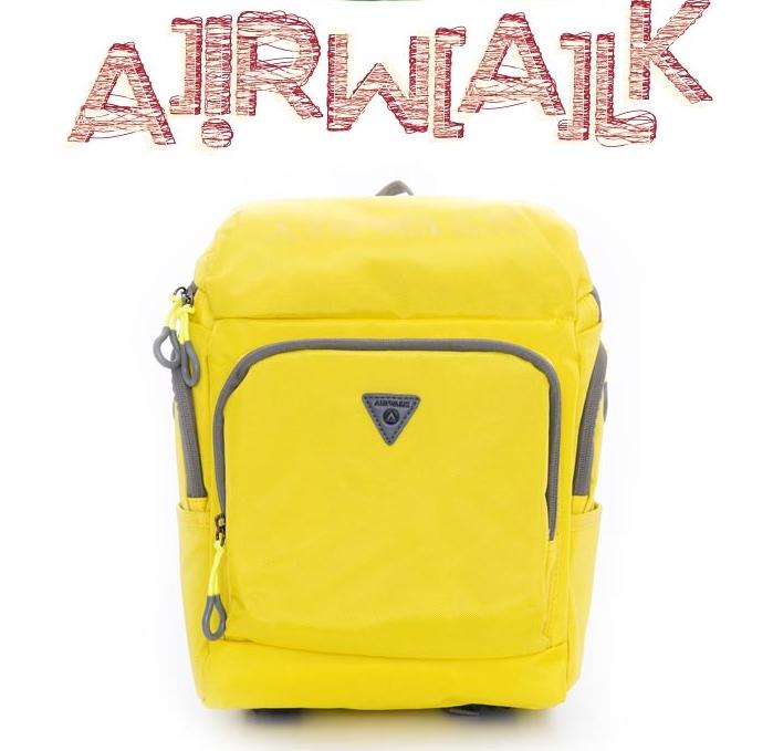 AIRWALK KIDS  ~ 都市小遊俠 後開式多 平板後背包 ~ 螢黃