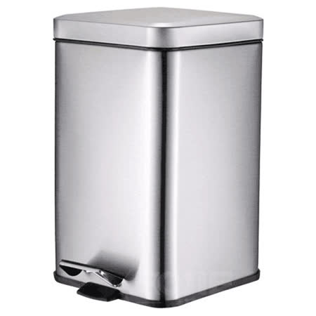 PUSH! 居家生活用品 colourful液壓緩降正方型垃圾桶 置物桶 12升(L)I24-1砂光色