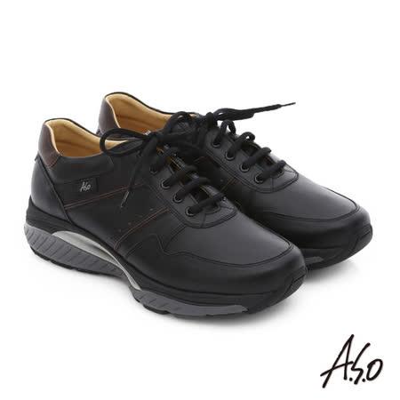A.S.O 前彈性後避震IV 舒適超動力勁步男鞋(黑)
