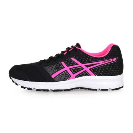 (女) ASICS PATRIOT 8 慢跑鞋-路跑 健身 訓練 亞瑟士 黑粉紅
