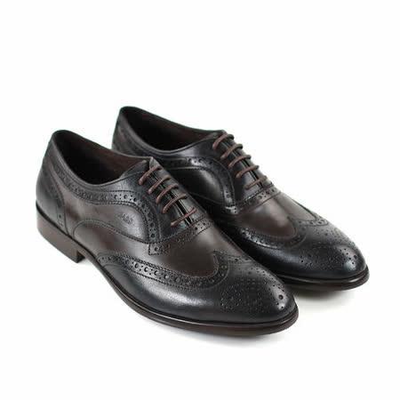 【GREEN PHOENIX】真皮紳士魅力經典牛津雕花皮鞋(男款)
