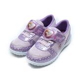 (中大童) 冰雪奇緣 愛心造型電燈鞋 紫 鞋全家福