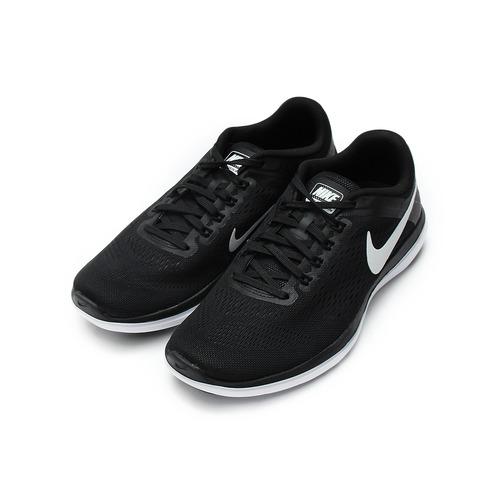 ^(男^) NIKE FLEX2016 RX 輕量透氣跑鞋 黑白 830751~001 鞋