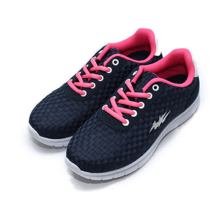 (女) COMBAT 輕量編織跑鞋 藍 鞋全家福