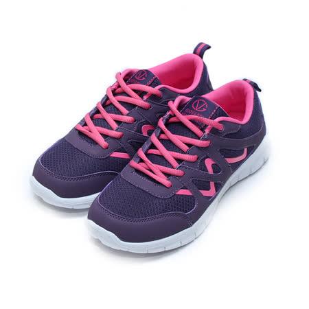 (女) GIOVANNI VALENTINO 輕量跑鞋 紫 鞋全家福