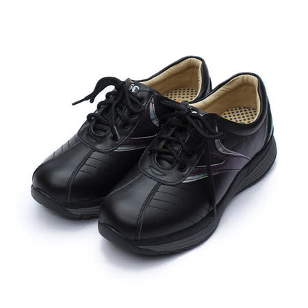 (女) 地之柏 綁帶健美鞋 黑 鞋全家福