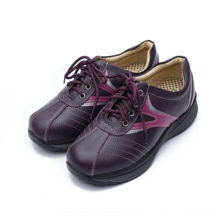 (女) 地之柏 綁帶健美鞋 紫 鞋全家福