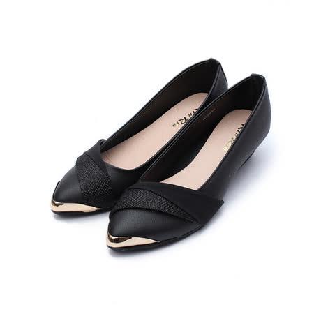 (女) Rin Rin 斜蔥面尖頭鞋 黑 鞋全家福