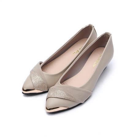 (女) Rin Rin 斜蔥面尖頭鞋 米 鞋全家福