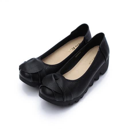 (女) Rin Rin 半圓楔形鞋 黑 鞋全家福