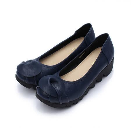 (女) Rin Rin 半圓楔形鞋 藍 鞋全家福