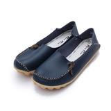 (女) Rin Rin 斜頭線包兩穿休閒鞋 藍 鞋全家福