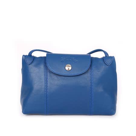 【LONGCHAMP】小羊皮斜背包(波斯藍色)