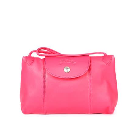 【LONGCHAMP】小羊皮斜背包(玫瑰粉色)