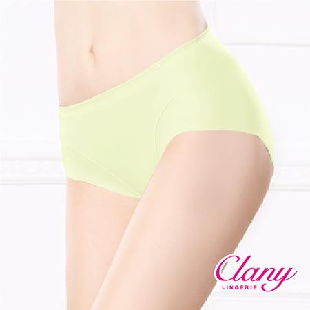 【可蘭霓Clany】健康抑菌竹炭中腰M-XL無痕內褲 初暮黃 2156-71