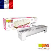 法國【Scrap Cooking】樂桃烘廚 樹幹夾心蛋糕不鏽鋼烤模30x8x6.5cm