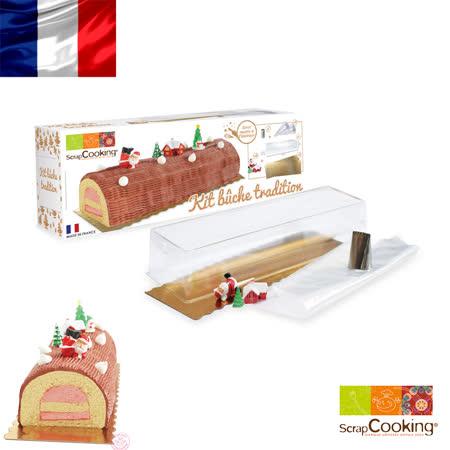 法國【Scrap Cooking】樂桃烘廚 聖誕樹幹夾心蛋糕 裝飾工具禮盒組