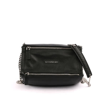 【GIVENCHY】 Pandora潘朵拉山羊皮小型鏈帶crossbody (黑色)