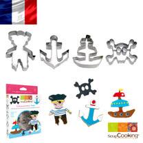 法國【Scrap Cooking】樂桃烘廚 海盜餅乾4造型壓模禮盒