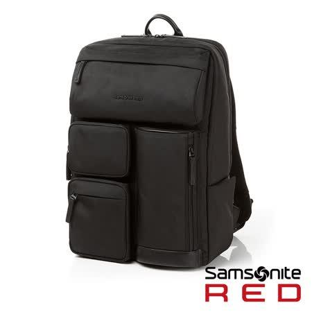 Samsonite RED  CLAKEN  休閒生活中性機能筆電後背包M 14