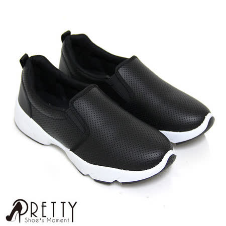 【Pretty】韓版率性雕孔直套式休閒鞋