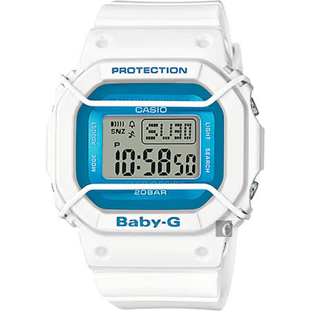 CASIO 卡西歐 Baby-G 復刻潮流腕錶-藍x白 BGD-501FS-7DR