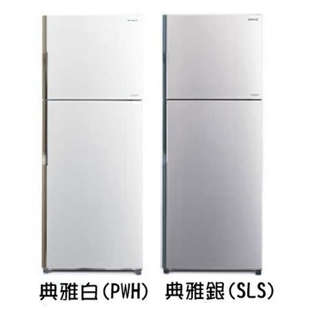 【HITACHI日立】414L變頻雙門冰箱RV439(白/銀)