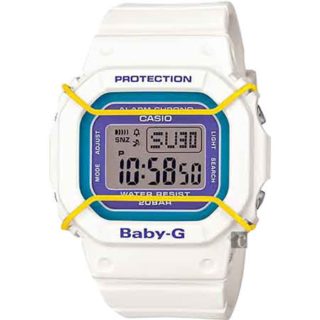 CASIO 卡西歐 Baby-G 復刻普普風腕錶-白 BGD-501-7BDR