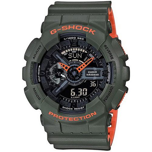 CASIO G~SHOCK 強悍風格雙顯 腕錶51mmGA~110LN~3A