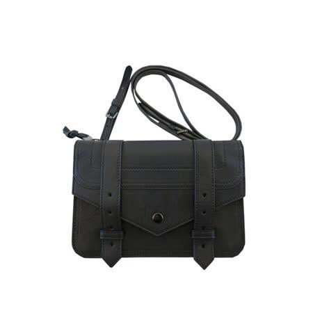 【PROENZA SCHOULER】皮夾式斜背手拿包 (黑色)