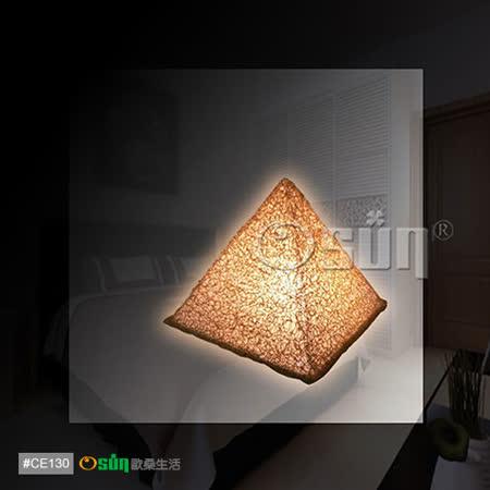 【Osun】開運金字塔能量桌燈二入組 / 小夜燈 桌燈 擺飾燈 禮贈品 台灣製(CE-130)