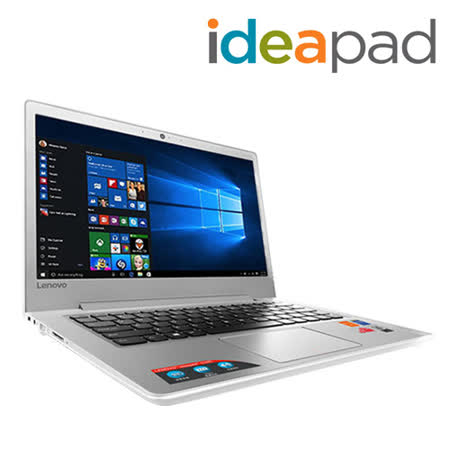 Lenovo IdeaPad 510s 13.3吋/4405U/4G/500G 美型文書筆電(白)-贈M10滑鼠/專用清潔組/散熱座