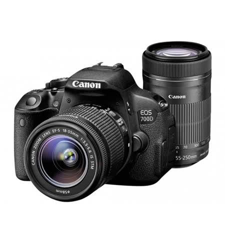 Canon EOS 700D 18-55mm IS STM + 55-250mm IS STM (公司貨)