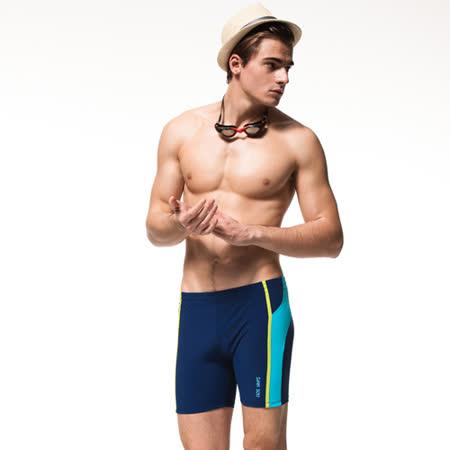 【SAIN SOU】MIT彈性五分泳褲附泳帽A53601