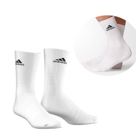 ADIDAS 男女 3S PER CR HC 1P 短襪 白 AA2300