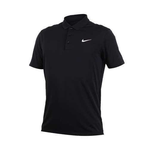 (男) NIKE GOLF 快速排汗短袖針織衫-高爾夫球 POLO衫 立領 T恤 黑白