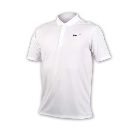 (男) NIKE GOLF 快速排汗短袖針織衫-高爾夫球 POLO衫 立領 T恤 白黑