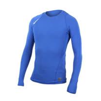 (男) NIKE 長袖針織衫-長T T恤 慢跑 路跑 寶藍白
