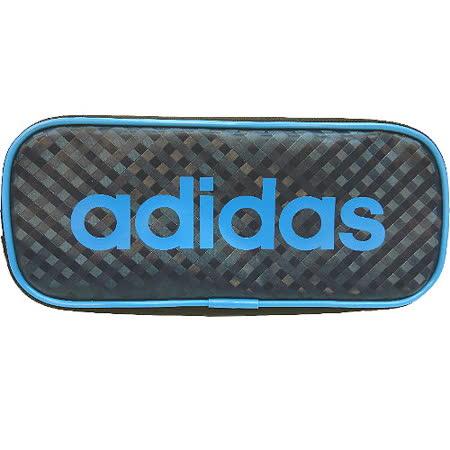【波克貓哈日網】收納袋筆袋◇日系adidas◇《黑色藍字》