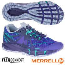 【美國 MERRELL】女新款 AGILITY PEAK FLEX 戶外多功能避震越野跑鞋.慢跑鞋/GRIP耐磨抓地鞋底.Fresh抗菌防臭/ML37712 紫藍