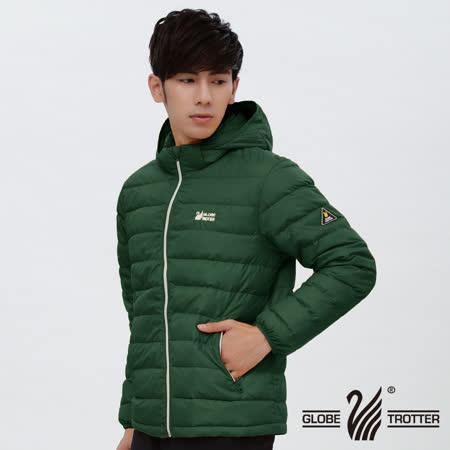 【遊遍天下】男款輕暖JIS90%羽絨防風防潑水羽絨外套(松綠 品特)