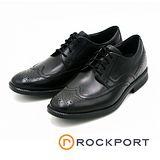 Rockport 奢華牛津雕花綁帶皮鞋-黑
