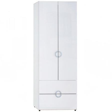 AT HOME-凱倫2.3尺白色二抽衣櫃