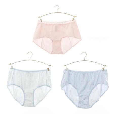 【黛安芬】柔棉生理褲 三件包 M-EL(依賣場)