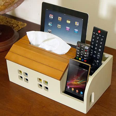 《C&B》古木調面紙遙控器收納盒