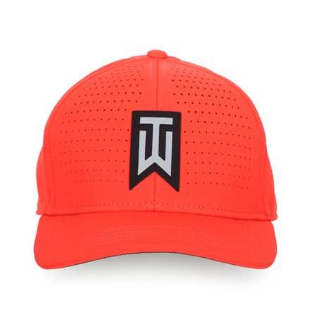 NIKE GOLF 高爾夫運動帽-帽子 鴨舌帽 防曬 TIGER WOODS 系列 紅黑銀 L